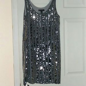NWOT/Silver, sequinned, tank style, dress